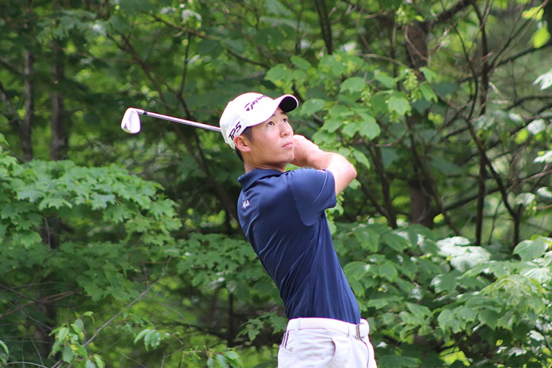 Cyrus Lee, AJGA Scholastic Junior All-America, swinging at the Killington Junior Golf Championship