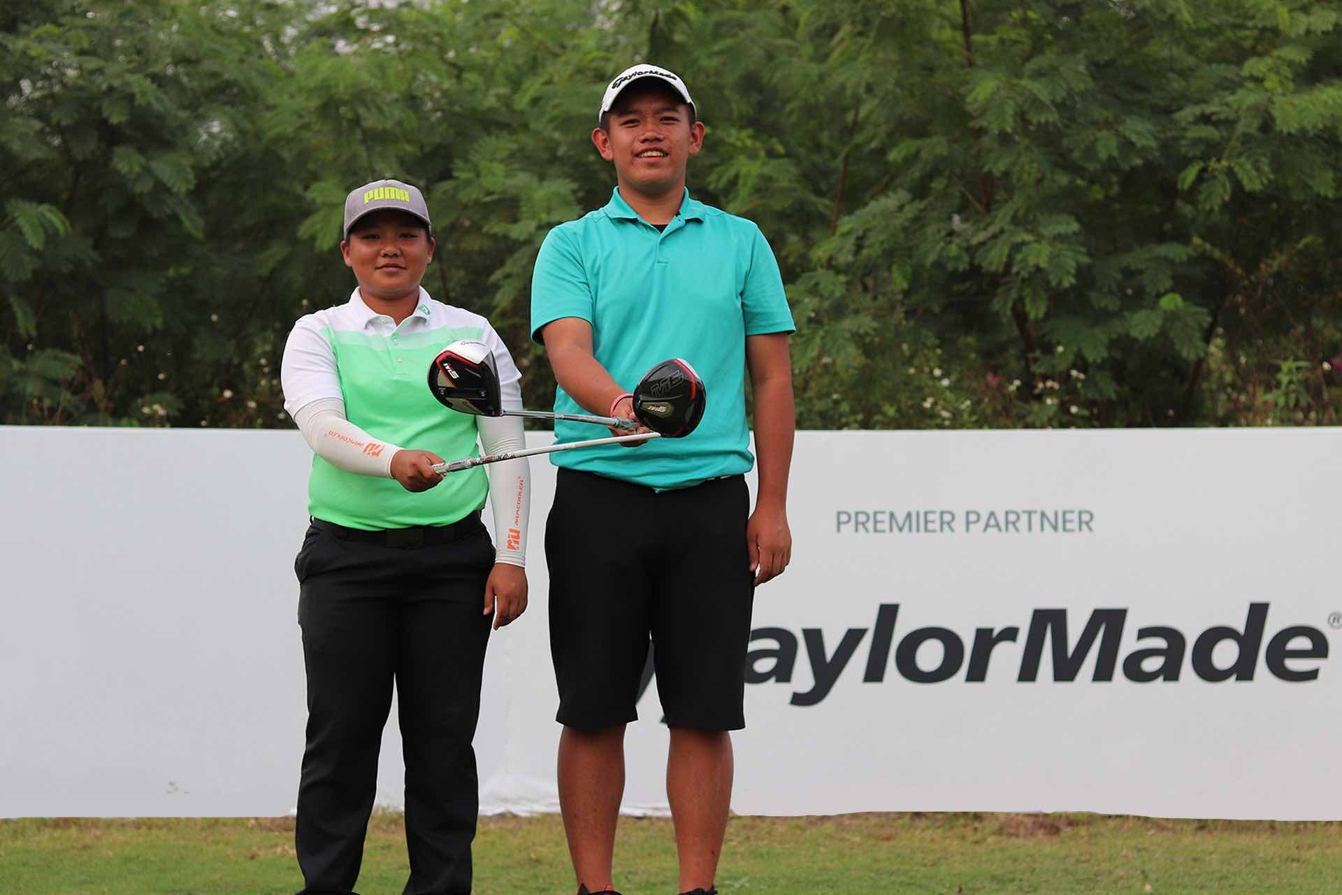 In The Driver's Seat after winning the Long Drive Contest at The Southern Junior at Zhuhai Golden Gulf Golf Club