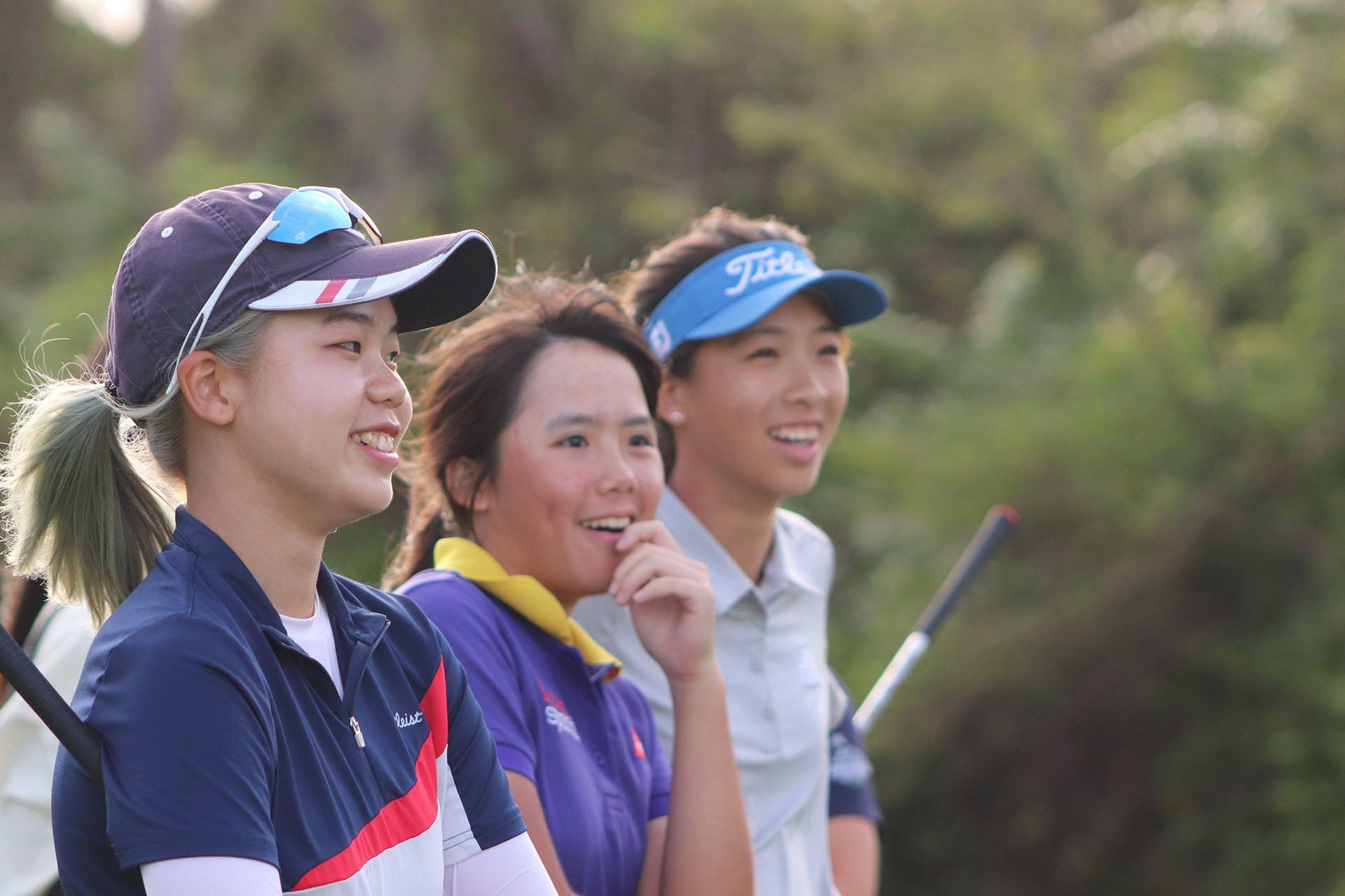 Jenny Chang, Hoi Ki Lau, and Charlene Chung at the Junior Aspirations at The Bluffs