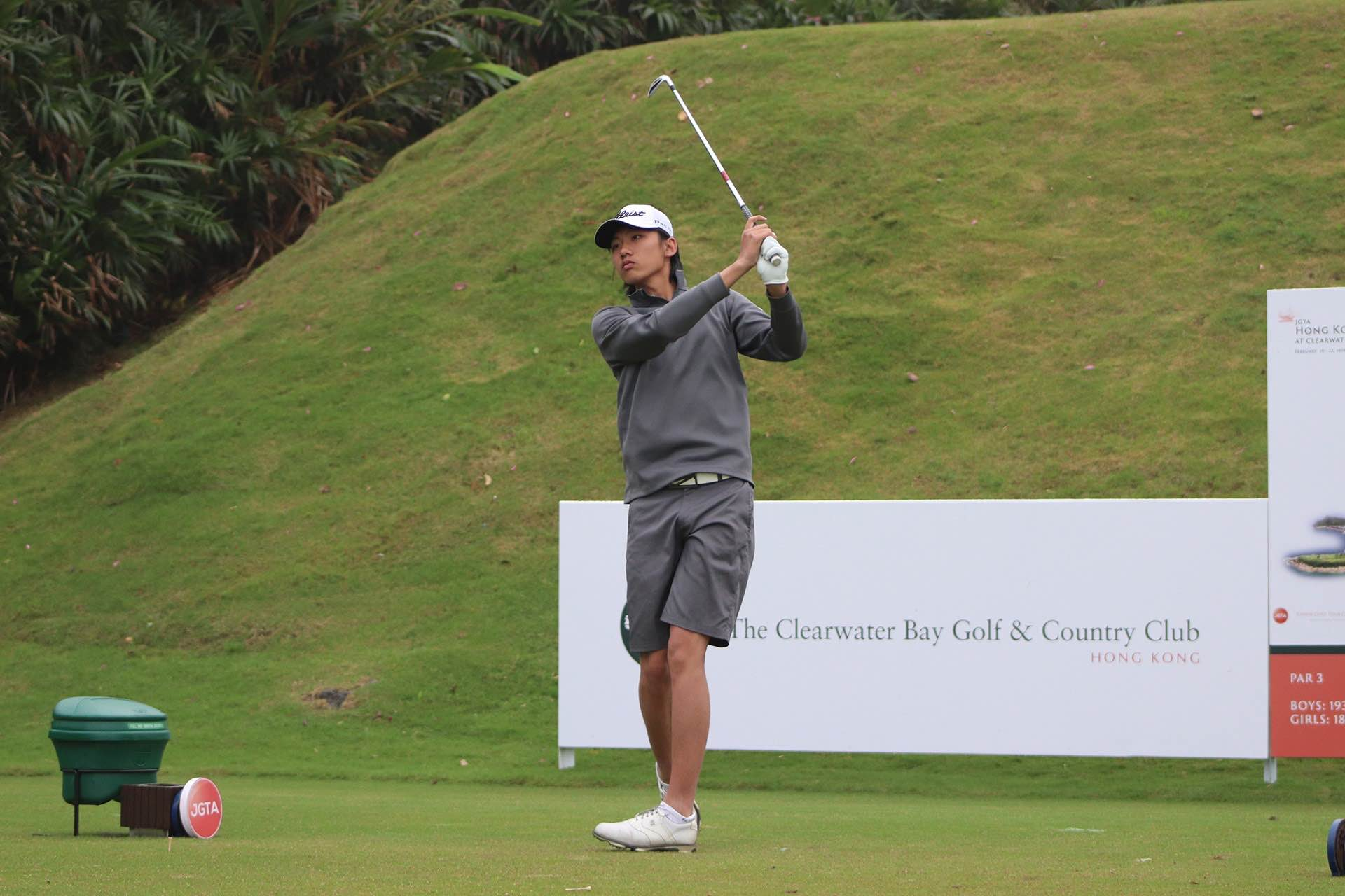 Hanzhe Zhou First Team Junior All-Asia First Tee Swing at Hong Kong Junior Classic at The Bluffs
