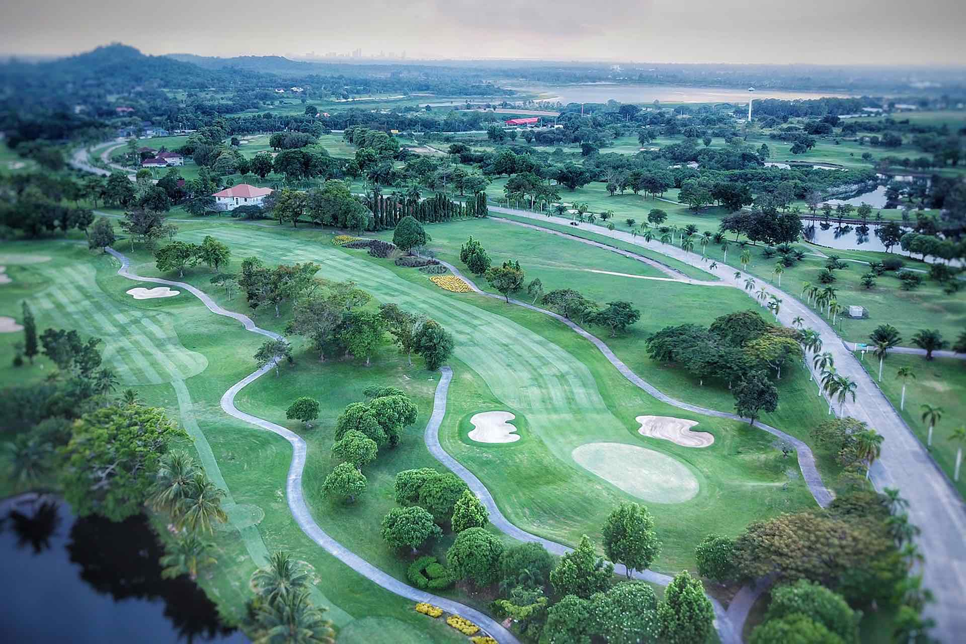 Burapha Golf & Resort photo from the sky in Pattaya