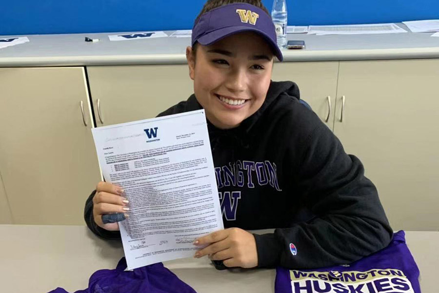 College Commitment of Camille Boyd to the University of Washington