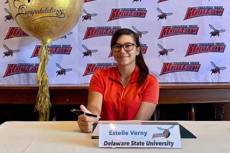 College Commitments 2020 Estelle Verny to Delaware State University