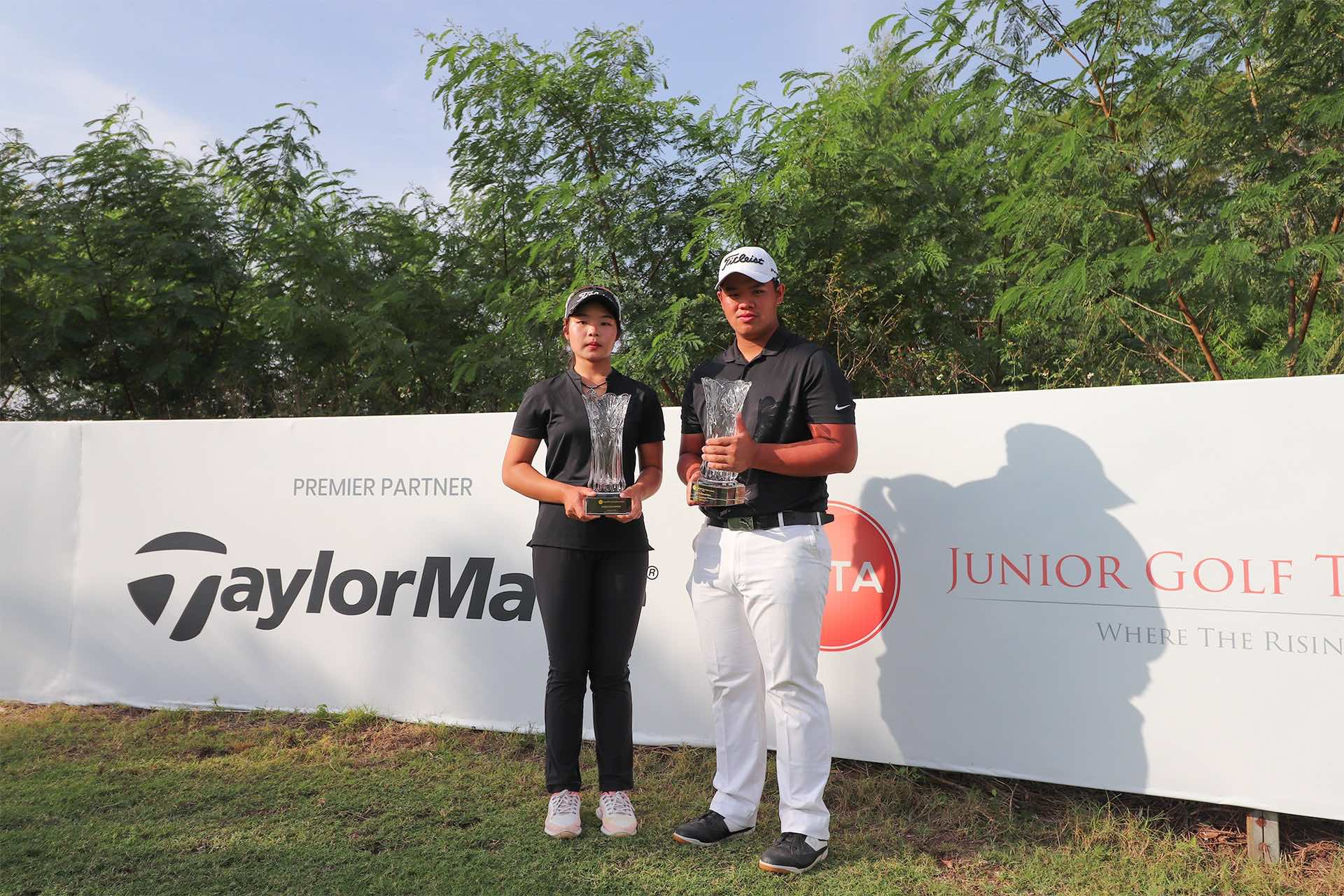Best Junior Golfers in Asia - Junior Order of Merit Champions and All-Asia Team Members Jiabao Song and Jui-Shen Lee